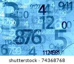 blue random numbers background illustration - stock photo