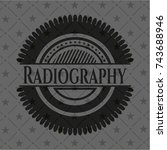 radiography realistic black... | Shutterstock .eps vector #743688946