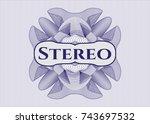 blue passport money style...   Shutterstock .eps vector #743697532