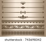 decorative elements. design... | Shutterstock .eps vector #743698342
