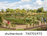 Stock photo rose park on a beautiful sunny day 743701972