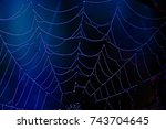 blue and black soft but shiny... | Shutterstock . vector #743704645