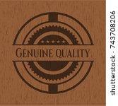genuine quality retro style... | Shutterstock .eps vector #743708206