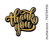 thank you handwritten... | Shutterstock .eps vector #743709556