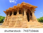 the sun temple is a hindu... | Shutterstock . vector #743710666