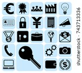 set of 22 business icons ... | Shutterstock .eps vector #743713336