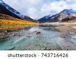 River And Mountains Along The...