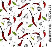 vector kitchen pepper flavor...   Shutterstock .eps vector #743726236