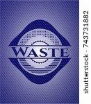 waste denim background | Shutterstock .eps vector #743731882