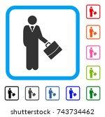 standing businessman icon. flat ...   Shutterstock .eps vector #743734462