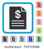 price list icon. flat gray...   Shutterstock .eps vector #743735686