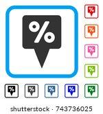 percent map pointer icon. flat...