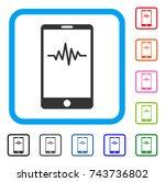 mobile signal graph icon. flat...