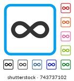 infinity icon. flat grey...
