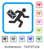 mail courier icon. flat grey...   Shutterstock .eps vector #743737126