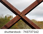 metal beams  | Shutterstock . vector #743737162