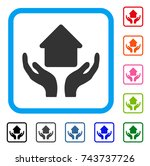 home care hands icon. flat grey ...