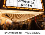 people going to cinema theater... | Shutterstock . vector #743738302