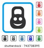 fitness iron smile icon. flat...