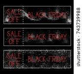 black friday sale off... | Shutterstock .eps vector #743739988