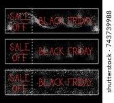 black friday sale off... | Shutterstock .eps vector #743739988