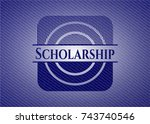 scholarship emblem with jean... | Shutterstock .eps vector #743740546
