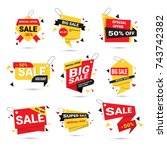 big sale banners set special... | Shutterstock .eps vector #743742382