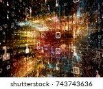 digital city series. 3d...   Shutterstock . vector #743743636
