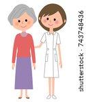 nurse patient   Shutterstock .eps vector #743748436