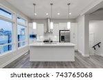 interior design of a modern...   Shutterstock . vector #743765068