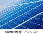photovoltaic solar power panel... | Shutterstock . vector #74377837