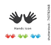 hand icon vector illustration | Shutterstock .eps vector #743782468