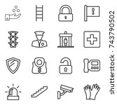 thin line icon set   chemical... | Shutterstock .eps vector #743790502