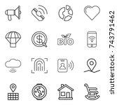 thin line icon set  ...