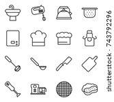 thin line icon set   sink ... | Shutterstock .eps vector #743792296