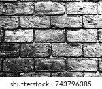rough  brick wall in mono tone... | Shutterstock . vector #743796385