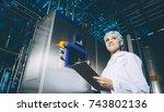 milk factory production | Shutterstock . vector #743802136