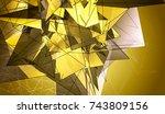 polygonal gold mosaic...   Shutterstock . vector #743809156