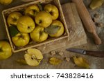 A Lot Of Apple Quince  With...