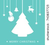 template christmas card  for... | Shutterstock .eps vector #743837725