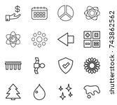thin line icon set   investment ... | Shutterstock .eps vector #743862562