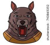 werewolf   Shutterstock .eps vector #743865352