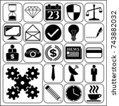 set of 22 business high quality ... | Shutterstock .eps vector #743882032