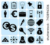 set of 22 business icons or... | Shutterstock .eps vector #743896336