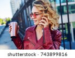 close up outdoor portrait of... | Shutterstock . vector #743899816