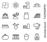thin line icon set   atom core  ... | Shutterstock .eps vector #743900995