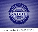 gabble with jean texture | Shutterstock .eps vector #743907715