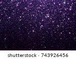 purple glitter texture... | Shutterstock . vector #743926456