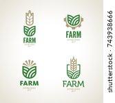 farm logo   Shutterstock .eps vector #743938666
