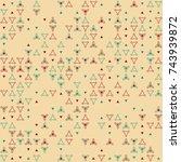 beautiful geometric pattern... | Shutterstock .eps vector #743939872